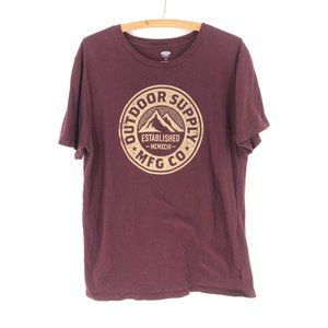 Old Navy Outdoor Supply Graphic Tee Sz L